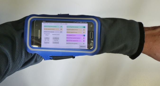 SlideTracker arm band