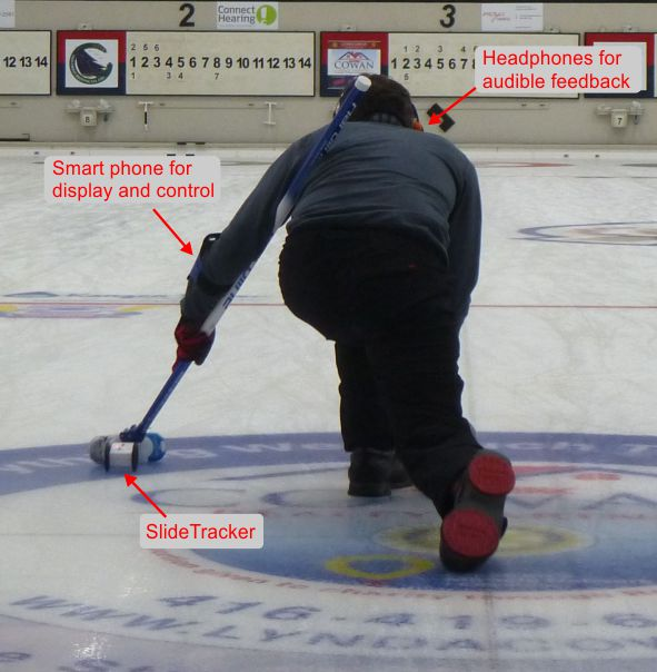 SlideTracker curling slide
